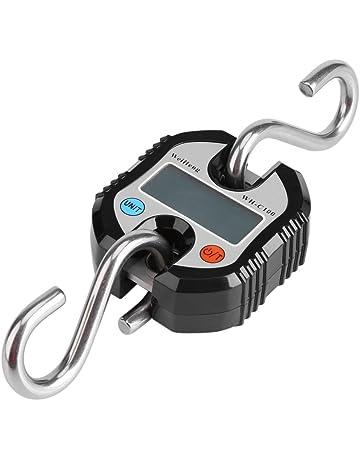 Fdit Grúa portátil Profesional Digitaces 150 kilogramos LCD Digitaces Anzuelo Electrónico Balanza de Lazo para Granja