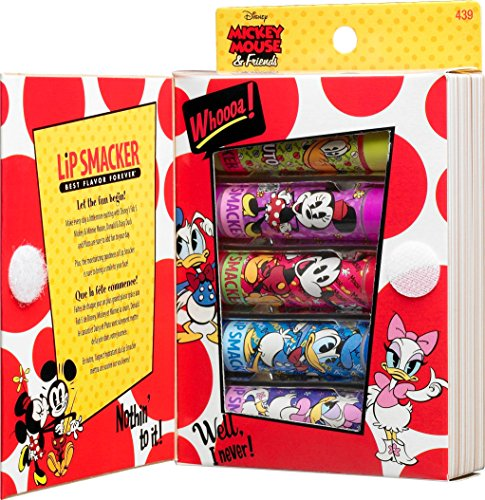 Lip Smacker Disney Story Book Mickey Mouse and Friends Lip Gloss Set, 5 Count (Elf Cosmetics Jasmine)