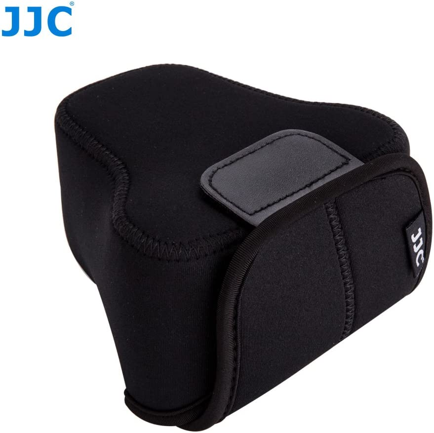 Jjc Oc F2bk Schwarz Neopren Kameratasche Für Fujifilm X T10 X T20 X M1 X A3 Olympus Canon Eos M5 M50 Mit Objektiv Größe Bis Zu 127 X 85 X 130mm Elektronik