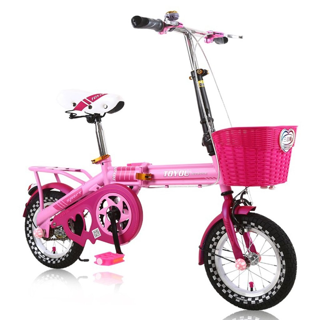 CSQ 子供の自転車、少年少女のために適して折りたたみ可能な都市路線高炭素鋼2-10歳使用108-125CM 子供用自転車 (色 : D, サイズ さいず : 125CM) B07DQBLTP7 125CM|D D 125CM