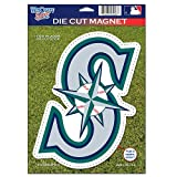 MLB Seattle Mariners 82772010 Die Cut Logo Magnet, Small, Black