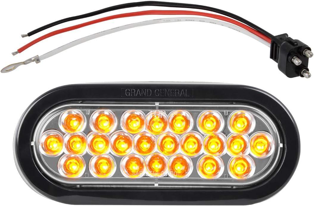 GG Grand General 78230BP Oval Pearl Amber//Amber 24 LED Sealed Park//Turn Light