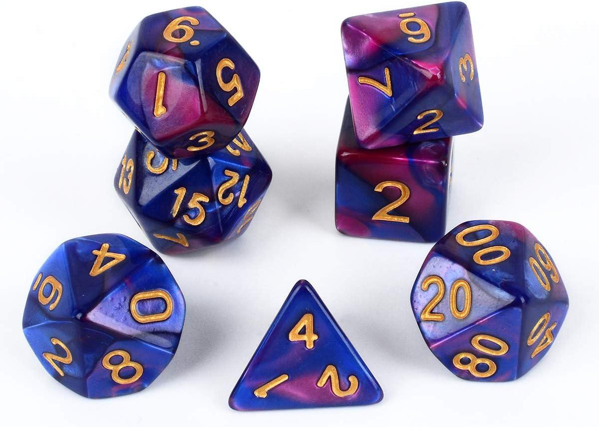 D6 42 Pieces 6 Sets with 6 Colors D10 D4 DND Dice DND Rpg MTG Double Colors One Piece D8 D12 FLASHOWL Polyhedral Dice Set Table Games Dice 6 Sets Dice 6 x 7 Die Series D20