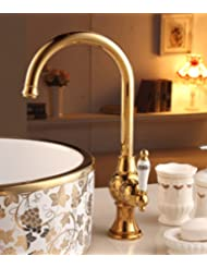 Antique-style faucets/ hot and cold water replaced tap/ brass Swivel Faucet-A