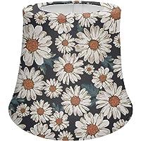 HUGS IDEA Vintage Daisy Flower Pattern Lampshade Table Lamp Floor Wall Lamp Shade, Elegant Decor for Home Bedroom Living…