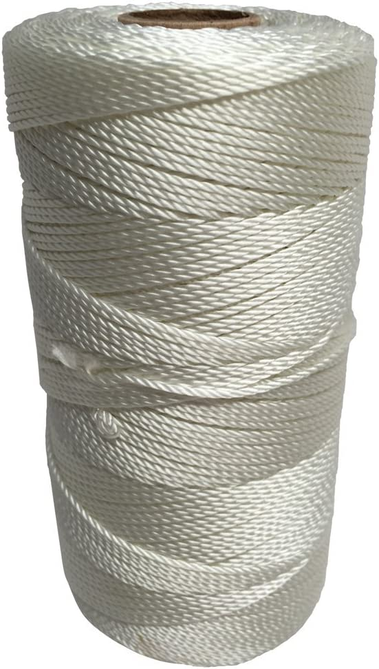 SGT KNOTS #18 Twisted Seine Twine - 100% Nylon Fiber, Utility Line for Crafting, Camping, Marine and More (1167ft)