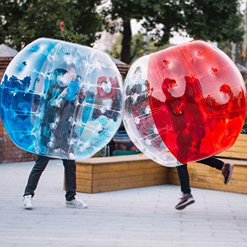 Happybuy Inflatable Bumper Ball 1.5m 5ft 2pcs Diameter Bubble Soccer Ball Blow Up Toy in 5 Min Inflatable Bumper Bubble Balls for Adults or Child (2X1.5m)