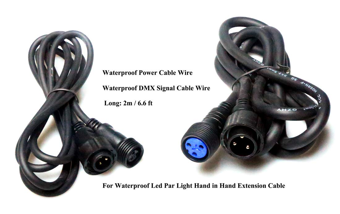 US Plug and Female Head + 1m//3.3ft 3x2.5mm2 Power Cable with Male and Female Head Outdoor Stage Lights Cable Wire for Waterproof Led Par Light Used Separately 1m//3.3ft 300//300v DMX Cable