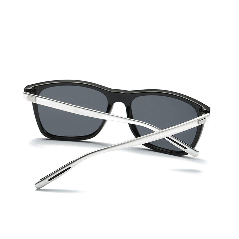 Amazon.com: Men Drive Vintage Aluminum+TR90 Square Black Frame Glasses Male Sunglasses Women Gafas: Clothing