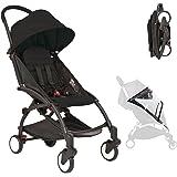 Black Compact Lightweight Baby Stroller Pram Easy Fold Travel Pram Travel Stroller