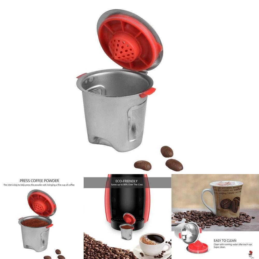 NUOBURBH Acero Inoxidable Cápsula Pod Cup Reutilizables para ...