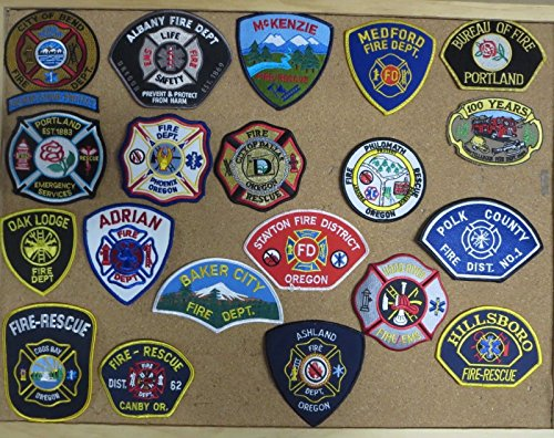 OREGON FIRE/RESCUE DEPARTMENT PATCHES/BADGES! SET ONE! LOT OF 20!