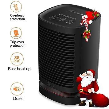 Greyghost Calefactor Electrico Portatil, 950W PTC Calentador de Espacio de Cerámica de Calentamiento Rápido con Termostato Ajustable/Protección contra ...