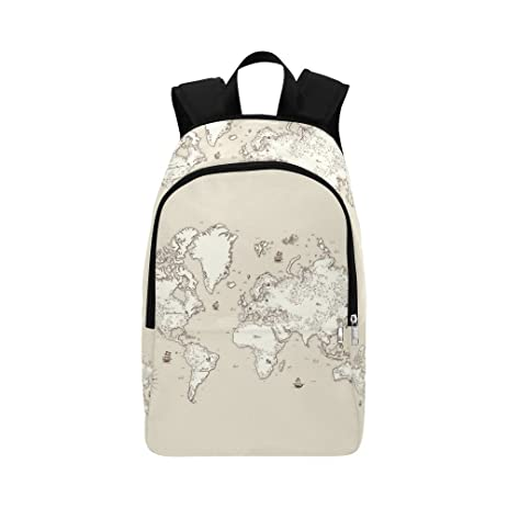 Amazon casual bag travel backpack world map design backpack casual bag travel backpack world map design backpack gumiabroncs Image collections