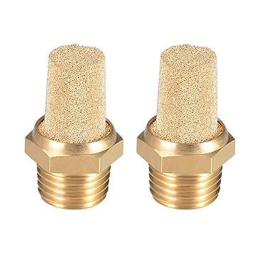 sourcingmap/® 1//2BSP Thread Pneumatic Air Breather Silencer Muffler 2pcs
