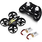 LBLA Mini Drone, 2.4GHz 4CH 6-Axis Headless Mode RC Quadcopter with Bonus Battery for Beginners(Black)