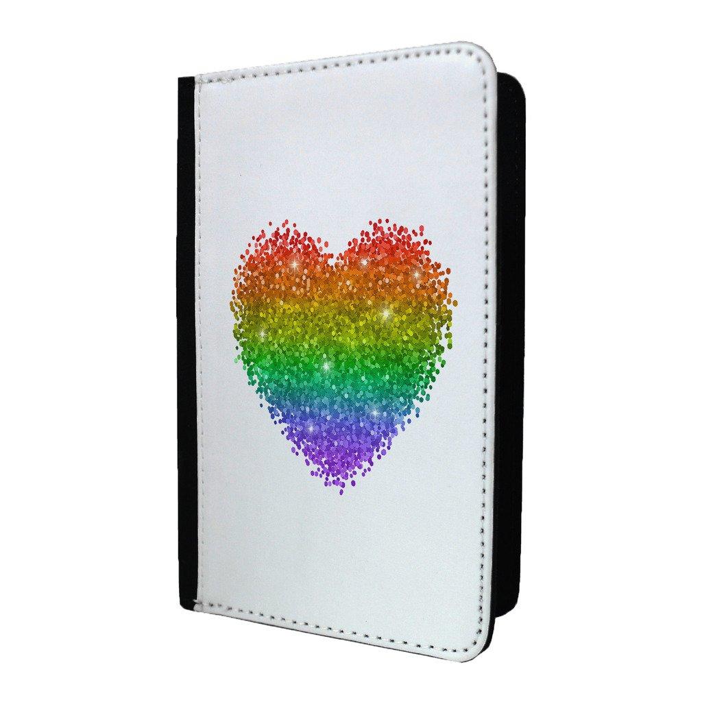 LGBT Paillettes Cœur passeport Coque–S834