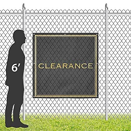 CGSignLab 8x8 Classic Gold Wind-Resistant Outdoor Mesh Vinyl Banner Clearance