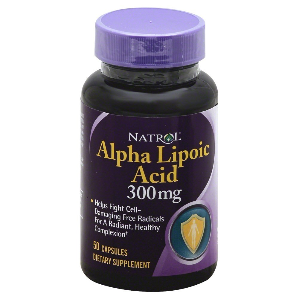 Natrol Alpha Lipoic Acid 300 Milligrams - 50 Caps (Packs of 3)