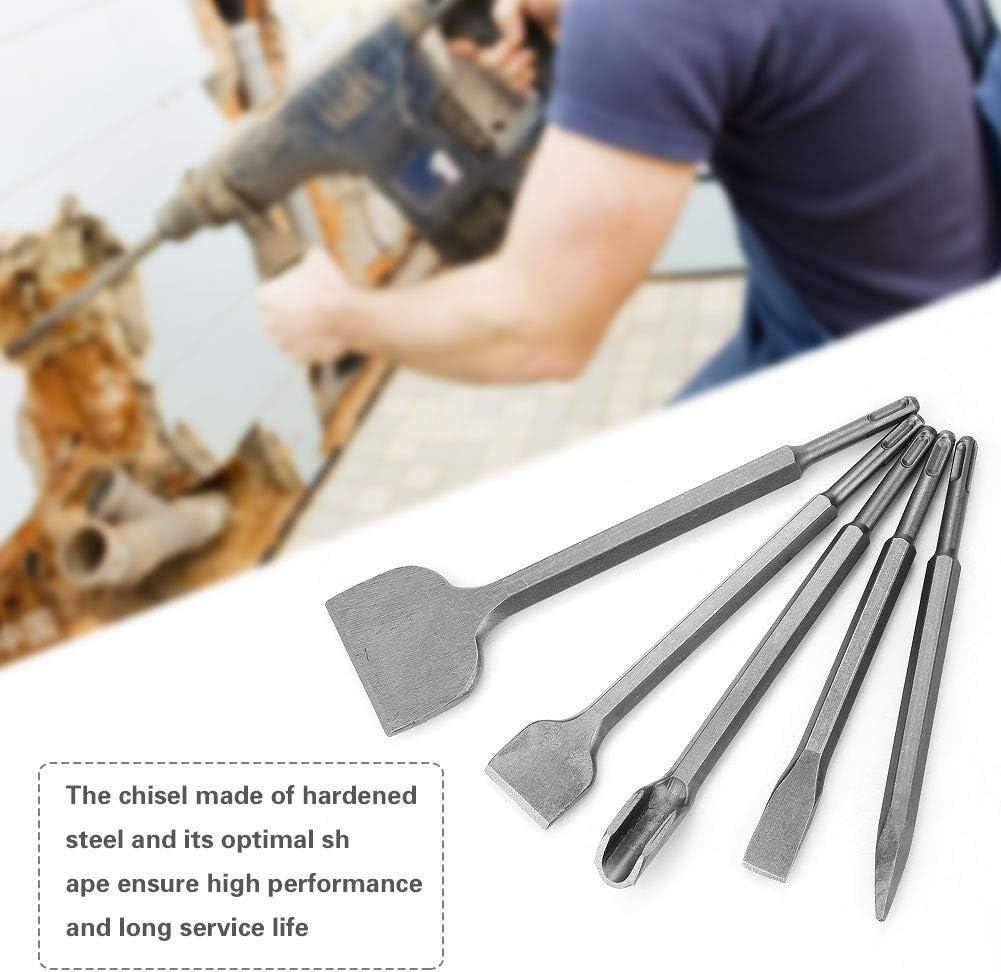 SDS Plus Lot de 5 burins pour marteau rotatif /électrique