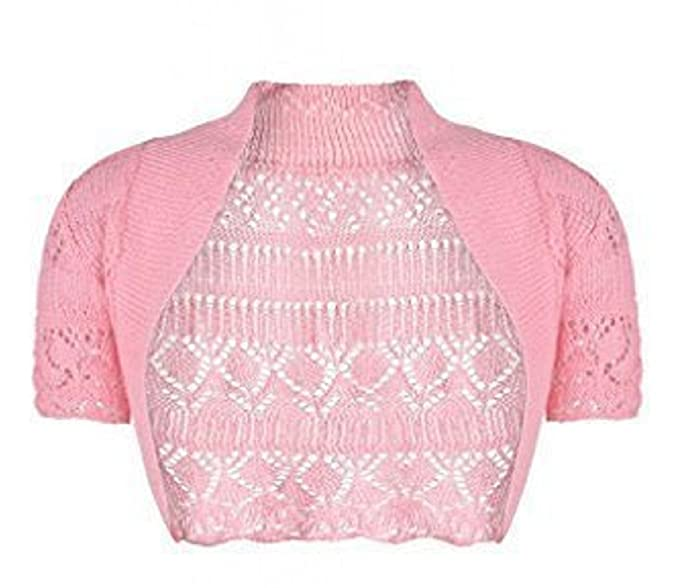 c0235aaa1 Momo Ayat Fashions Girls Kids Crochet Short Sleeve Knitted Bolero ...