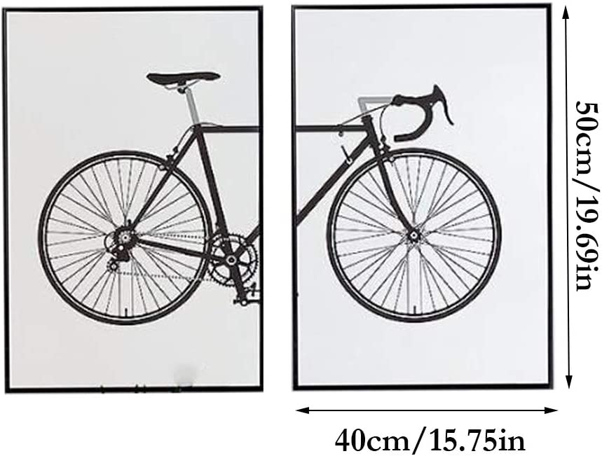 hll-036 Dibujos Animados Bicicleta Pintura Lienzo Arte de la Pared Imagen Pintada por Ordenador Fondo Imagen 2 Paneles Decoración del hogar SIN Marco: Amazon.es: Hogar