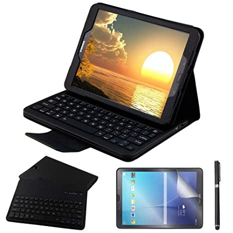 buy popular c4238 42388 Galaxy Tab S3 9.7 Keyboard Case with Screen Protector & Stylus, REAL-EAGLE  Slim Separable Fit PU Leather Case Cover Wireless Keyboard for Samsung ...