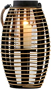 KMYX Wooden Rattan Candlestick Farmhouse Style Garden Candle Holder Ornaments Sample Room Decoration Traditional Lantern Candelabra Home Accessories Candle Stand (Size : Height 38cm)