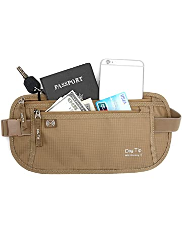 367f984f7e34 Day Tip Money Belt - Passport Holder Secure Hidden Travel Wallet with RFID  Blocking
