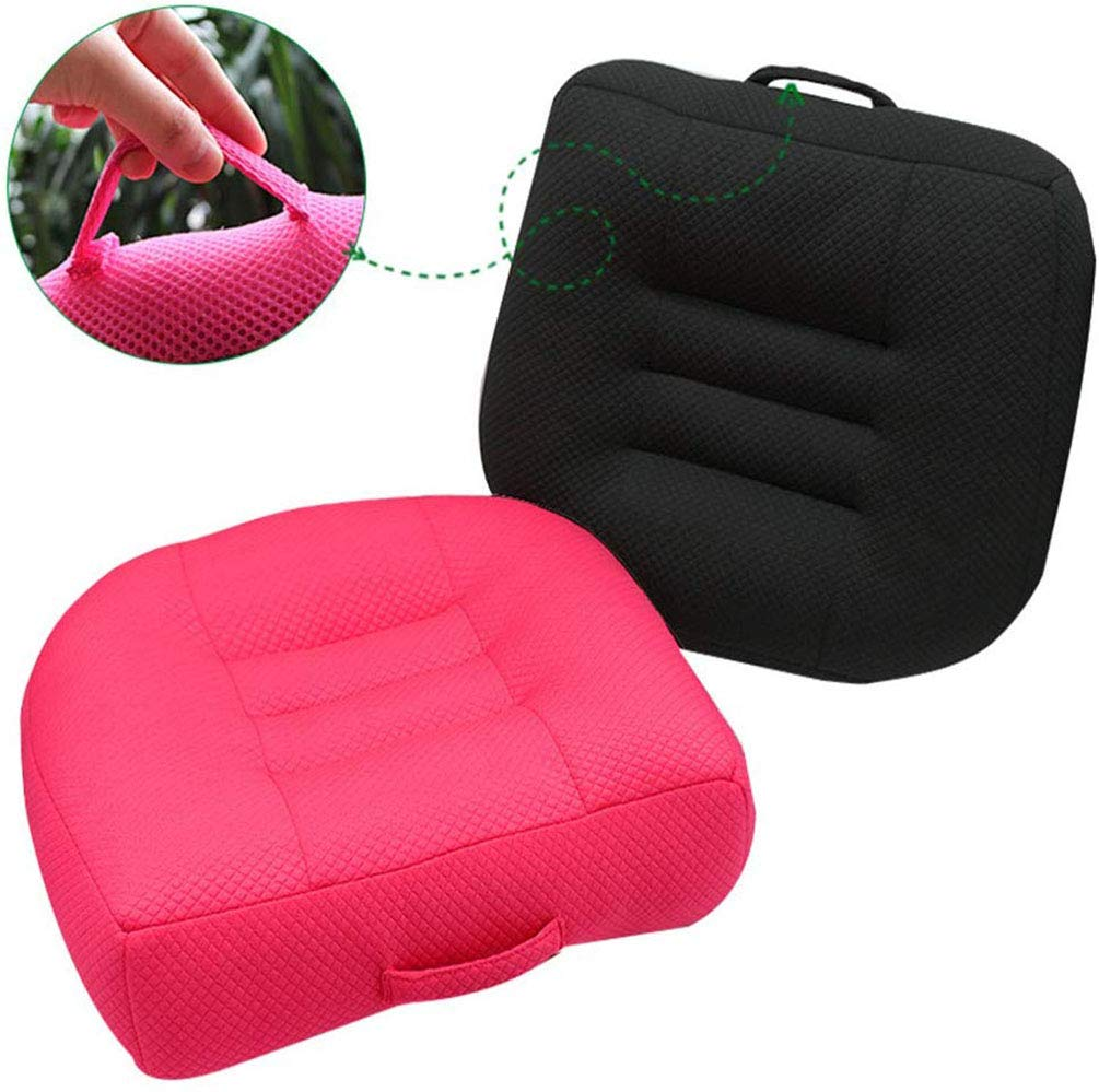 Car Booster Seat Cushion Heightening Height Boost Mat Driver Booster seat car seat Cushion,Angle Lift Seat Cushions,Effectively Increase The Field of View by 12cm,for Car Office,Home Blue