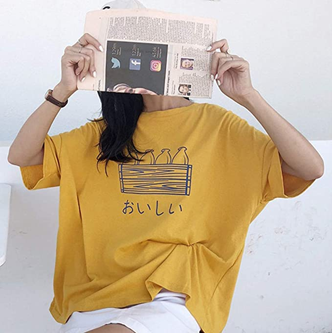 Camiseta de Mujer, Mujer Moda para Mujer Sólido Manga Casual ...