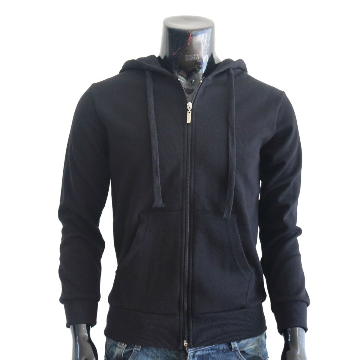 Amazon.com: BCPOLO Mens Zip Hoodie Fleece Full Zip Cotton Plain Hoodie Jackets: Clothing