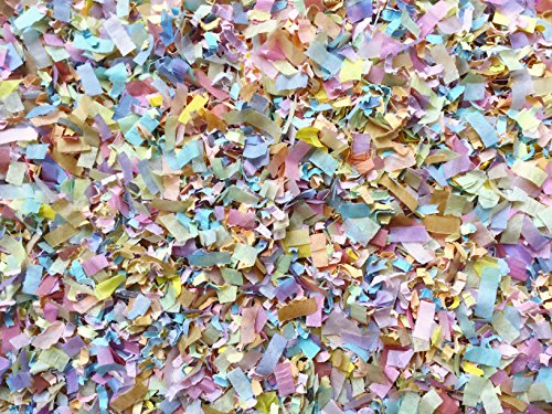 Pastel Rainbow Confetti Mix Biodegradable Baby Shower Party Wedding Eco Throwing Decorations Send Off Table Décor Bulk Pack InsideMyNest (25 Handfuls)