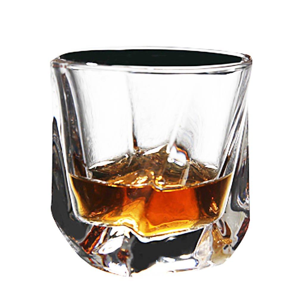 Bicchieri per bere Bicchieri di cristallo senza piombo Bicchieri per vino di vetro Whisky, 200ml#8 Black Temptation