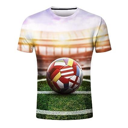 Qiusa Camiseta de la Personalidad de los Hombres Hombres Copa del Mundo de fútbol de Manga