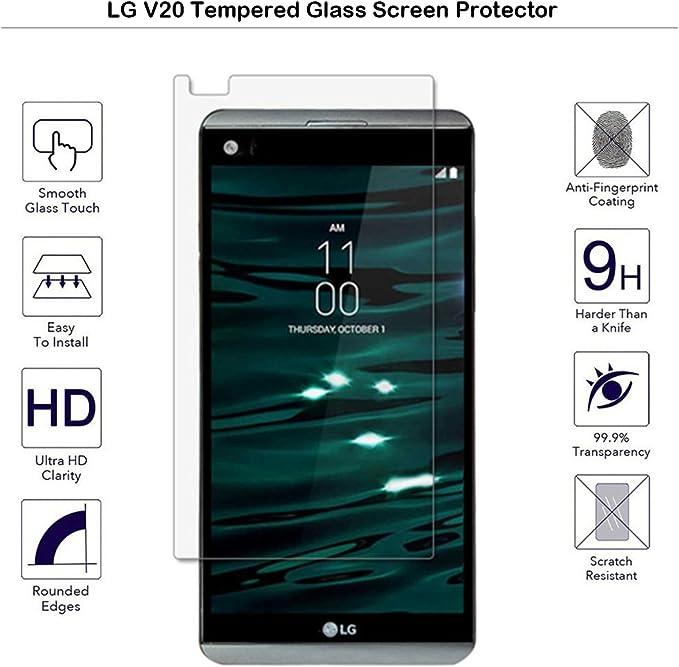 LG V20 – Protector de pantalla de cristal templado Fiimi Protector ...