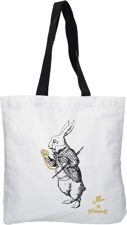 V&A - Bolsa de la Compra (algodón, 38 x 43 cm), Color Blanco ...