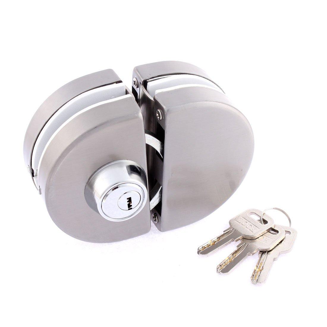 Uxcell SYNCE003733 Entry Gate Swing Push Sliding Glass Door Lock W 3 Keys