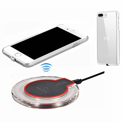 hanende Kit de Cargador Inalámbrico para iPhone 7 Plus, Qi Carga inalámbrica Pad y Receptor inalámbrico para iPhone 7 Plus (Plata)