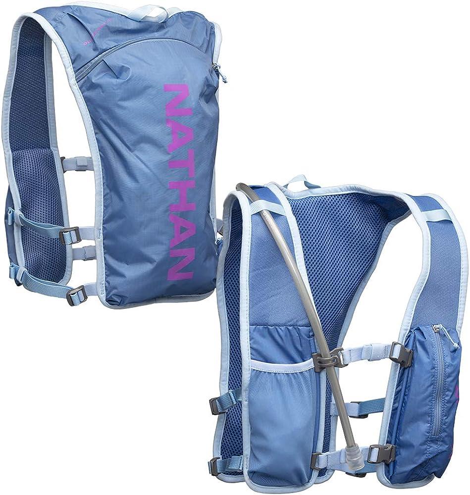 Nathan QuickStart Hydration Pack Running Vest. 4L Storage with 1.5L 1.5 Liter Bladder Included. for Men and Women OSFM Adjustable Straps. Phone Holder Pockets, Zippers