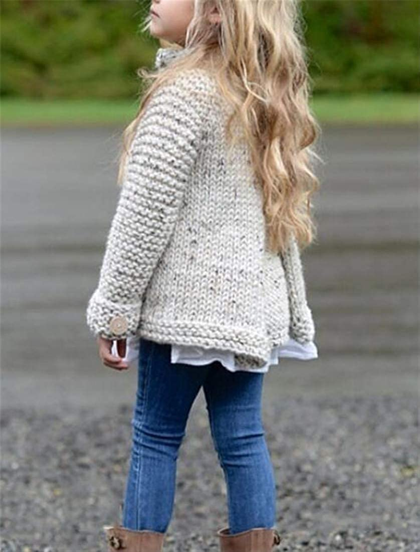 Pandapang Girl Coat Fashion Knitted Cute Round-Neck Sweater Cardigans