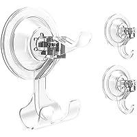 Elegear Ganchos Ventosa Singular Doble Triple Colgador Cocina Super Fuertes para Baño Ventana Espejo Ropa Toalla