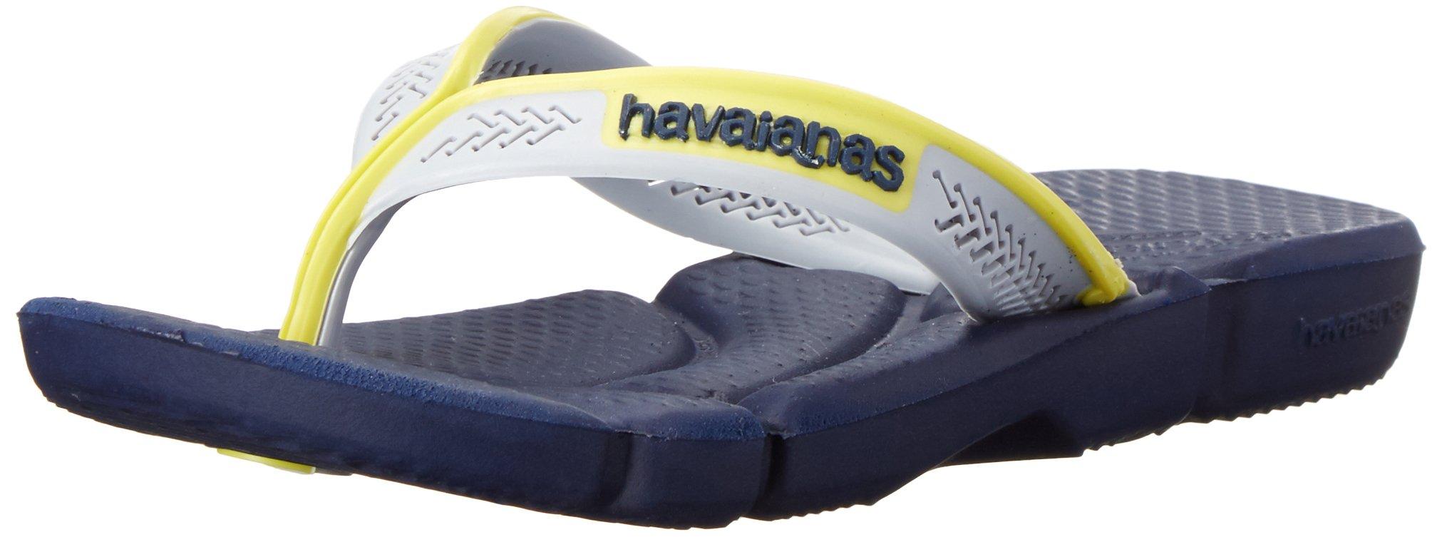 Havaianas Kids Flip Flop Sandals, Power, White/Blue/Grey, Navy Blue/Navy Blue,27/28 BR (11-12 M US Little Kid)