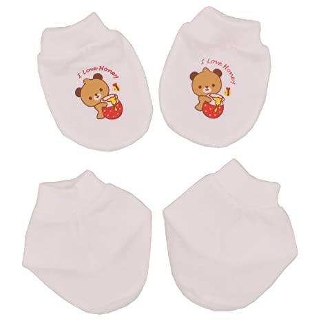 056832d326f1 Buy Tollyjoy Mitten and Bootee Set (Bear) (White) Online at Low ...