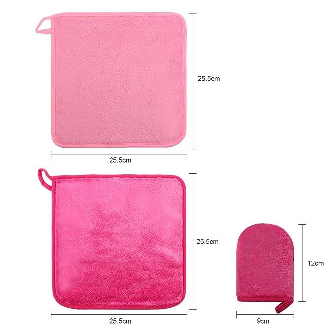 Reutilizable gamuza de extractor de maquillaje (2 unidades ...