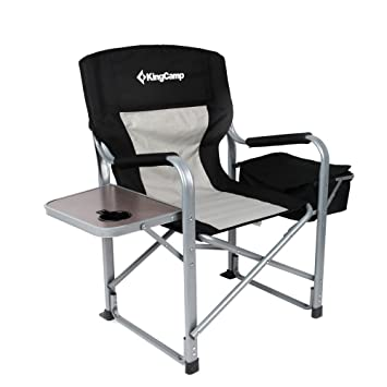 KingCamp Heavy Duty Steel Folding Chair / Directoru0027s Chair With Cooler Bag  And Side Table