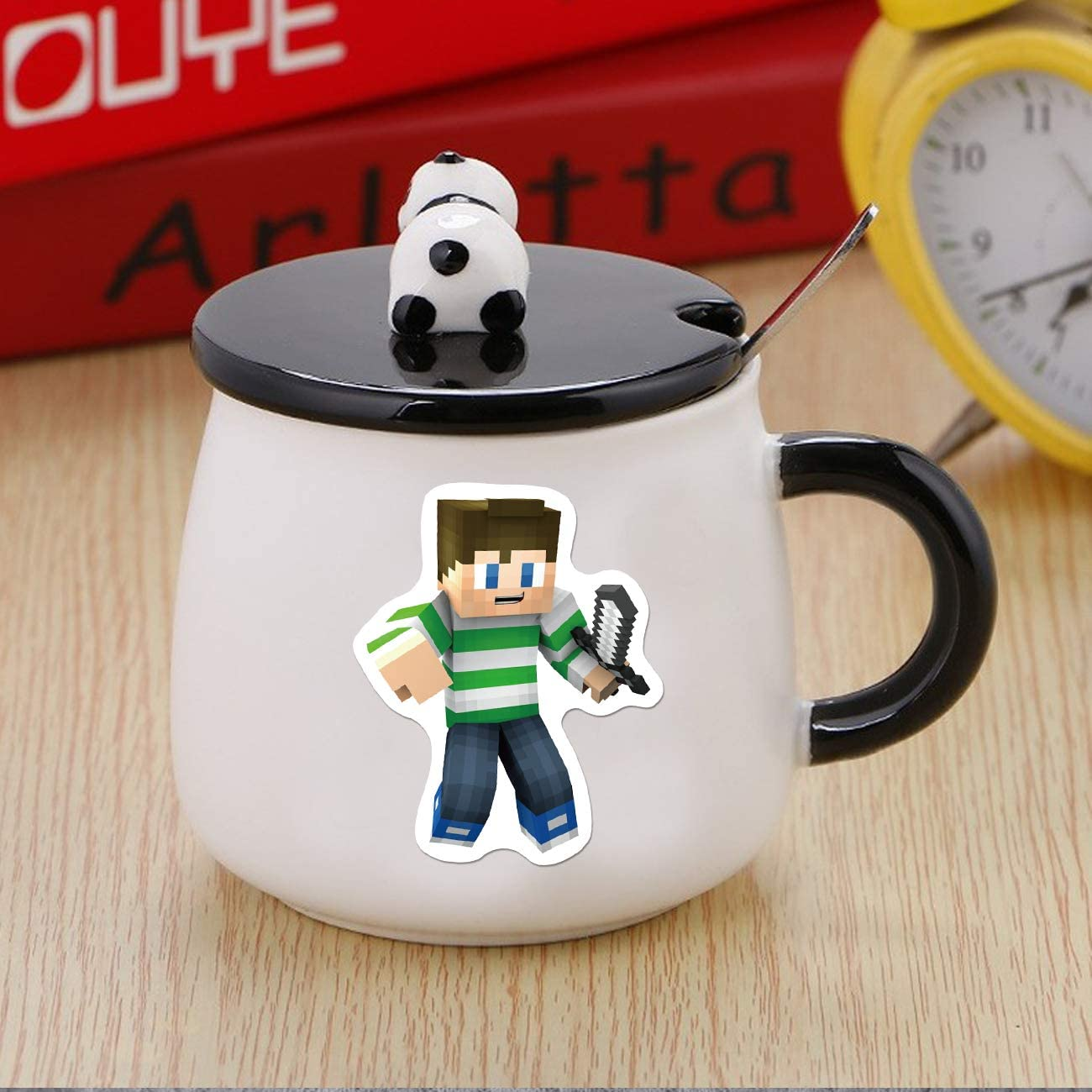 100PCS Minecraf/_t Stickers Gaming Stickers Vinyl Laptop Waterproof Stickers Water Bottle Skateboard Stickers for Kids Teens Adults