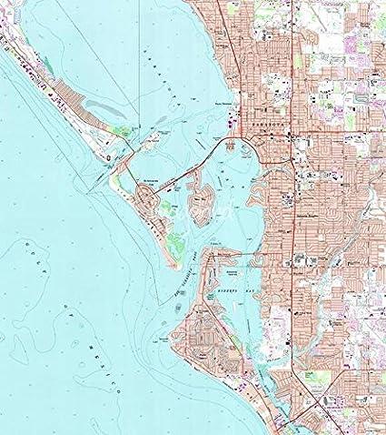 Map Sarasota Florida.Amazon Com Imagekind Wall Art Print Entitled Vintage Map Of