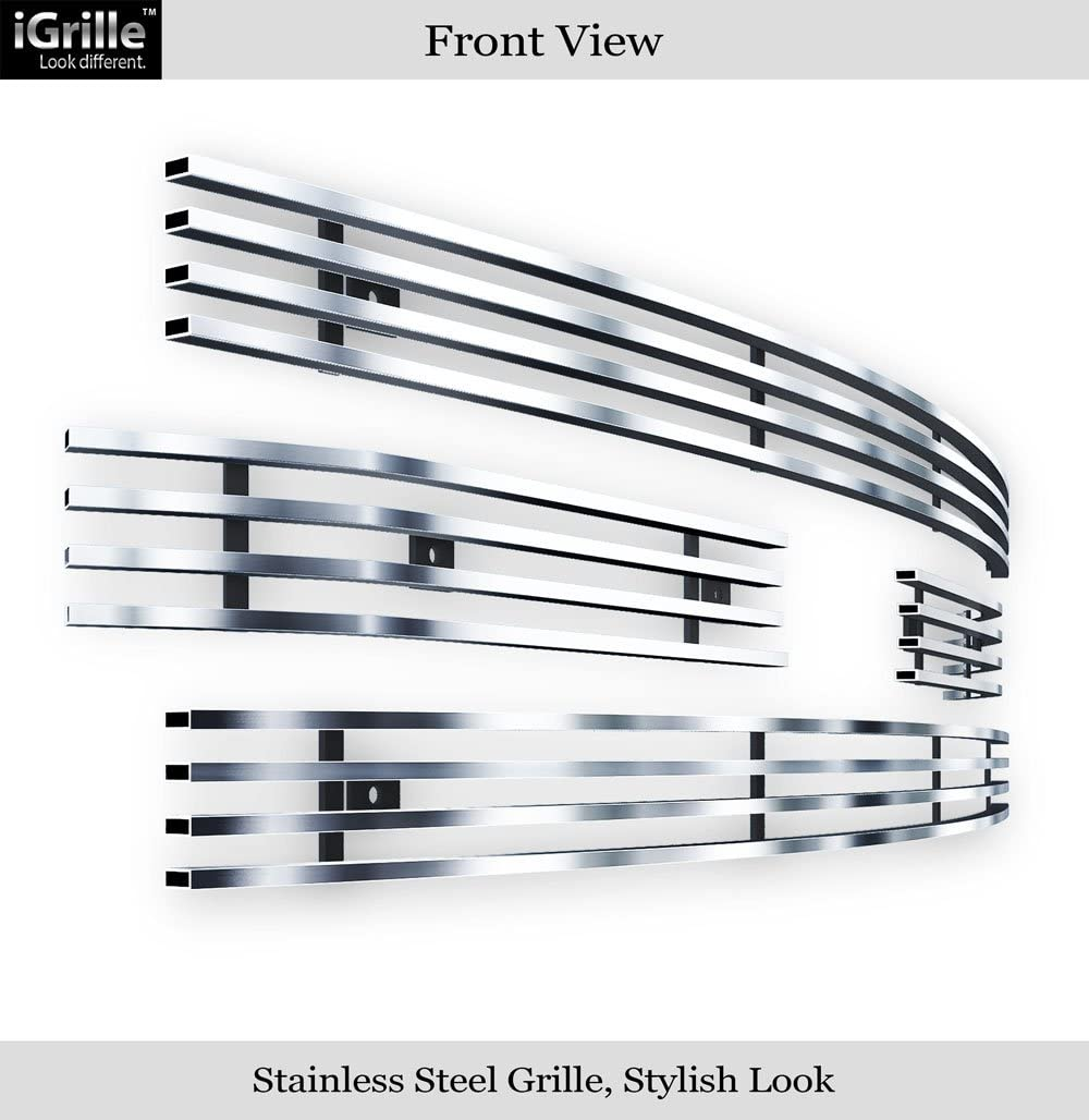 APS Compatible with 2011-2016 Ford F-250 F-350 F-450 F-550 F-250 SD XLT Lariat King Ranch Main Upper Stainless Steel Chrome Horizontal Billet Grille Insert F66827C