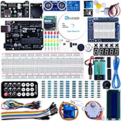 Component listing: 1pcs UNO R3 Controller Board 1pcs LCD1602 Module ( with pin header) 1pcs Breadboard Expansion Board 1pcs Power Supply Module WARNING: Pls. do not use the voltage higher than 9V 1pcs Joystick Module 1pcs IR Receiver 1pcs Ser...